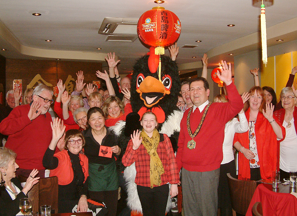 photo of Friends of Dorking celebrating Chinese New Year at fund raising activity